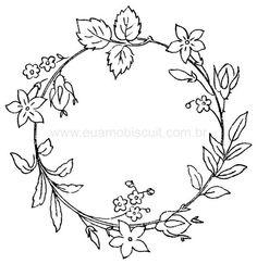 Embroidery Floral Wreath Pattern, part 7... ::ARTESANATO VIRTUAL - Tecnicas de Artesanato | Dicas para Artesanato | Passo a Passo::