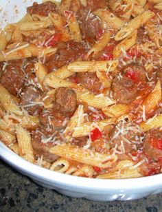 Slow Cooker Italian Sausage & Penne