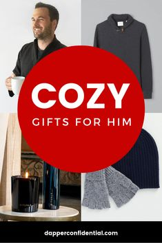 Cozy gifts for him — whether it's a white Christmas or just an everyday treat, we have smart and unique gift ideas for the special man in your life. Mens Style Guide, Men Style Tips, White Christmas Outfit, Unusual Gifts For Men, Christmas Gifts For Him, Curvy Outfits, Stylish Men, Special Gifts, Cool Things To Buy