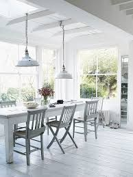 coastal style rustic white dining room - Google Search
