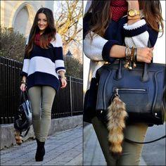 Striped jumper (by Monika Lepa) http://lookbook.nu/look/4312781-striped-jumper