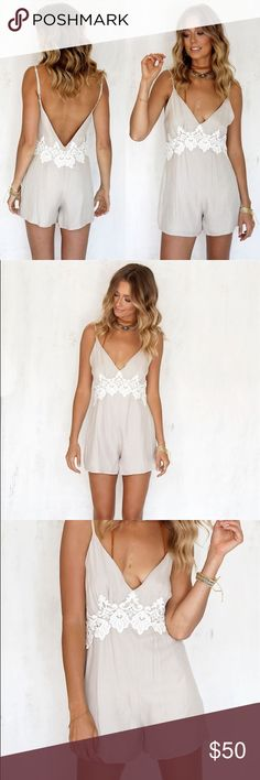 Sabo skirt Clara playsuit romper lace crochet New with tags Sabo Skirt Dresses