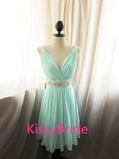 Hey, I found this really awesome Etsy listing at https://www.etsy.com/listing/187220859/mint-bridesmaid-dress-short-bridesmaid