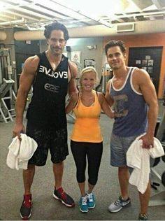 Matt and Joe at the gym in Savannah