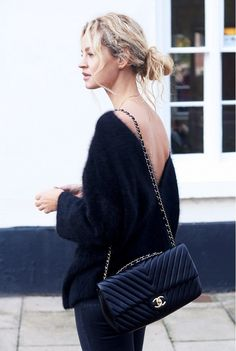 Backwards cardi. Important Question: Can Cardigans Actually Be Sexy? via @WhoWhatWear