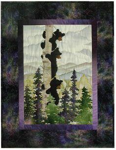 McKenna Ryan Calling Me Home - Bear Up There Art Quilt Block Pattern 2 #PineNeedles