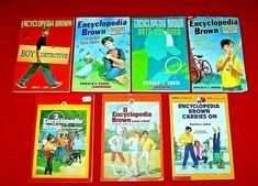 Lot 7 Encyclopedia Brown Chapter Books 3 Vintage Grades 2nd-5th Donald Sobol Mystery Books, Chapter Books, Detective, Brown, Vintage, Mystery Novels, Brown Colors, Vintage Comics