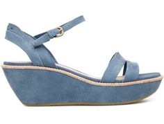 For Spring Summer 2013 Camper presents Damas, a blue open sandal with a 6cm platform made of suede.