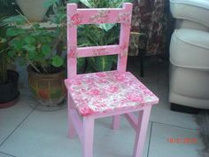 Painted in Annie Sloan Chalk Paint and cath kidston decoupage