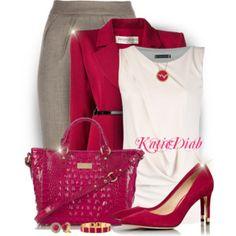 Hot Pink,White,&Grey