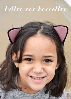 Your little girls are going to love wearing these cute kitten ear barrettes. They are so easy to make!