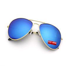 19665b7c5a13a Mens Blue Aviator Sunglasses With Silver Blue Aviator Sunglasses