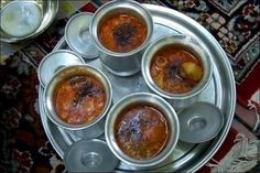 Abgousht. A very yummy Persian dish that includes: lamb, chickpeas, tomato, onion and spices.