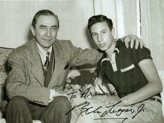 Béla Lugosi junto a su hijo.