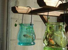 包郵懸掛水晶透明花瓶 簡約花器 水培裝飾擺件 吊掛玻璃魚缸