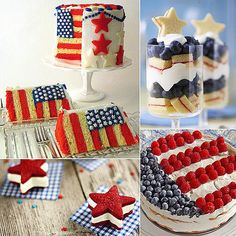Fun desserts for a Fourth of July celebration!