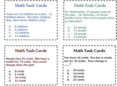 40 Task Cards with questions based on 2nd grade standards.  Depending on where your children our developmentally we all know other grade levels can...