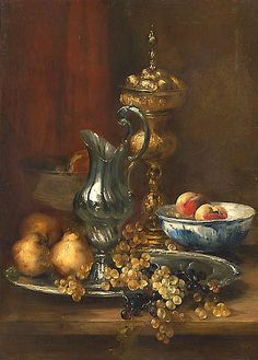 still life quick heart — Antoine Vollon Still Life with Silver Ewer and. Painting Still Life, Still Life Art, Still Life Photography, Nature Photography, Baroque Painting, Classic Paintings, Fruit Art, Art For Art Sake, Gravure