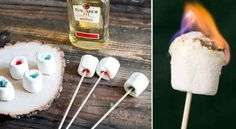 Make flaming Jell-O marshmallow shots. | 41 Genius Camping Hacks You'll Wish You Thought Of Sooner