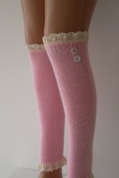 SOCKS Pink Leg Warmers Boot Socks  Machine by CarnavalBoutique, $25.00