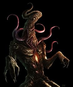 Cthulhu Project - Great Race of Yith by Serathus on DeviantArt Lovecraft Cthulhu, Hp Lovecraft, Cthulhu Art, Yog Sothoth, Lovecraftian Horror, Eldritch Horror, Creepy Pictures, Call Of Cthulhu, Monster Design