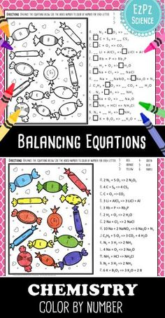 Balancing Chemical Equations Worksheet  Customizable  Chemistry