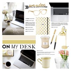 """""""What's on My Desk?"""" by helenevlacho ❤ liked on Polyvore featuring interior, interiors, interior design, home, home decor, interior decorating, Michael Kors, Kate Spade, iittala and Thirstystone"""