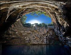 Melissani cave, Greece.