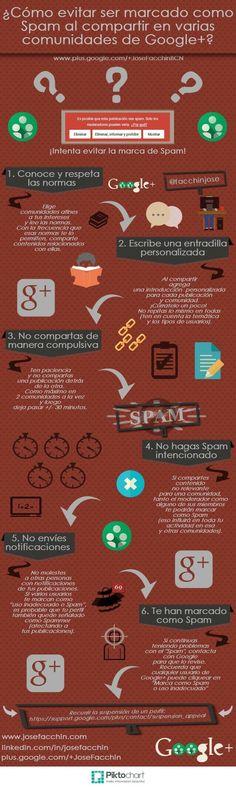 Trucos para no ser un spammer en los grupos de Google+ (infografía)