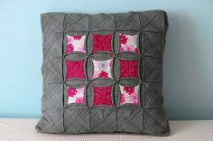 Cathedral Windows Pillow by the workroom, via Flickr