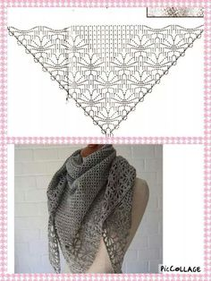 Exceptional Stitches Make a Crochet Hat Ideas. Extraordinary Stitches Make a Crochet Hat Ideas. Crochet Shawls And Wraps, Knitted Shawls, Crochet Scarves, Crochet Clothes, Scarf Knit, Crochet Diy, Crochet Chart, Crochet Stitches, Thread Crochet
