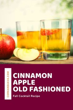 The Old Fashioned Cocktail is a classic, but it's a great to modify for Autumn. In our quest for the Best Fall Cocktails, we present the Cinnamon Apple Old Fashioned. This recipe is a great way to enjoy the classic old fashioned cocktail in a new way that's sure to get you in the fall spirit!