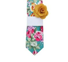 Creator Tie Untipped, Unlined Difou Floral Printed Cotton Sfoderato
