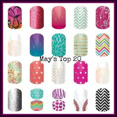 Top 20 most popular wraps for May 2014!  http://brandee.jamberrynails.net/