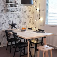 Discover recipes, home ideas, style inspiration and other ideas to try. Ikea Dining Room Furniture, Kitchen Tables Ikea, Modern Dinning Table, Ikea Dining Table, Dining Room Sets, Ypperlig Ikea, Ikea Inspiration, Decoration, Sweet Home