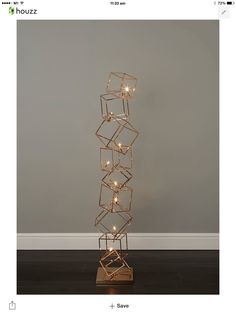 Dexter 8 Light Copper Cube Floor Lamp