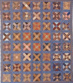 Crossroads, 1840. Maker unknown.  This would be wonderful to make in Jo fabric