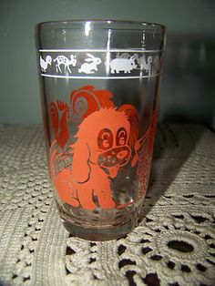 Vintage Swanky Swig Juice Glass Kraft Kiddie Cup Animals