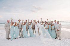 Adorable must-have photo of the bride and groom!   http://www.weddingpartyapp.com/blog/2014/07/07/preppy-beach-wedding-dear-wesleyann-photography/