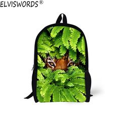 Aliexpress.com : Buy ELVISWORDS 2017 Fashion School Bags Tiger Wolf Print Backpack Children Schoolbags For Teenager Boys Back to School Book Bag Kids from Reliable children schoolbag suppliers on Lingka Design Store