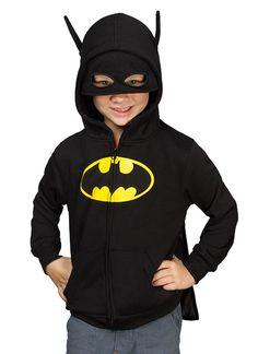 Batman Kids' Costume Hoodie | ThinkGeek