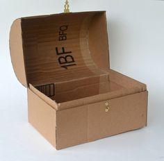 Cómo hacer un cofre del cartón   _   How To Make A Cardboard chest