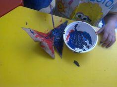 Una mariposa colorida