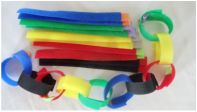 Great sensory toy called Rip N' Stick Straps.