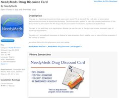 This app is a free drug discount card that saves users up to 75% or more off the cash price of prescription medications purchased at almost any pharmacy. The discount also applies to over-the-counter medications (if the doctor writes a prescription for the drug) and pet prescription medications purchased at a pharmacy.    The card is free and there is no registration. Anyone can use the card as there are no income, insurance, age, or residency requirements. Get Educated, Medical Prescription, Make Time, Pharmacy, Mobile App, The Help, Drugs, Counter, How To Apply