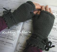 Fingerless Gloves Knitting Pattern Hand by handknittedthings, $3.80    Knitted flat...