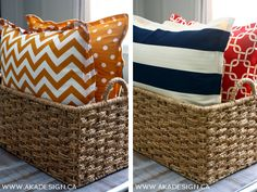 Easy no sew floor pillows - perfect for watching movies or kids to read on the floor! Great for outside too!  5ines.com