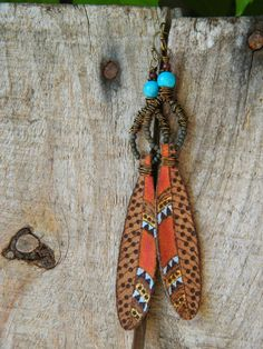 Art Jewelry Elements: Make Your Own ~ Beaded Drop Feather Earrings