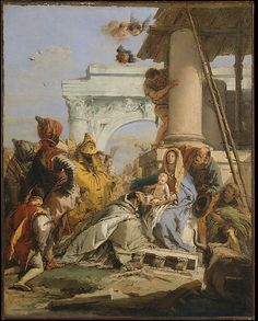 The Adoration of the Magi  Giovanni Battista Tiepolo  (Italian, Venice 1696–1770 Madrid)  Medium: Oil on canvas