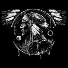 Native American Tshirt Hawk Dream Spirit Indian Culture Feather Chief Howl Tribe